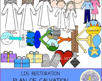 LDS Plan of Salvation Download with story - Missionaries, Baptism, Family Home Evening