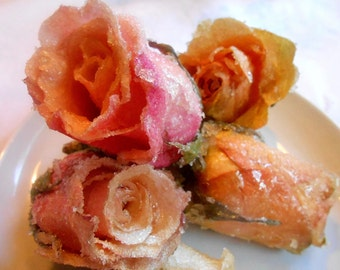 Gourmet Candied Roses Fresh Cut Crystallized, Last Lasting,, Weddings, CakeToppers