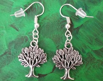 Silver Tree Earrings