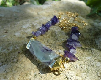 fluorite necklace and Amethyst