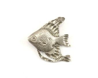 Vintage Fish Pendant 925 Sterling PD 1073-E