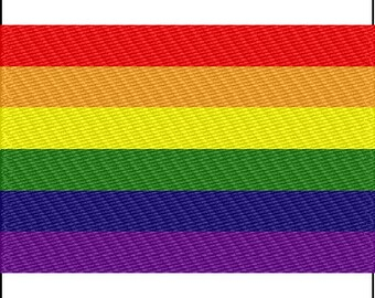 Gay Pride Flag Embroidery Design