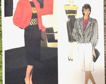 Vogue Paris Original 1195; 1980s; Christian Dior - Misses' Jacket, Skirt and Top Vintage Sewing Pattern  Bust 36