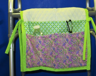 Walker bag pouch tote mobility bag tote assisted living tote sofa caddy hospital bed caddy bedside caddy