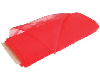 """Fabric by the Yard - Red Tulle 108"""" Wide"""