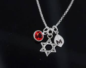 Persronalized Star of David Necklace, 925 sterling silver star of David Necklace, 925 Sterling silver Star of David Pendant .