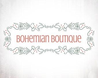 Premade Logo Design • Bohemian Frame
