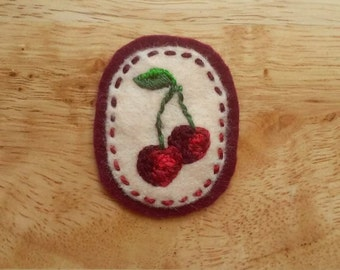 Sweet Cherries (Patch, Pin, Brooch, or Magnet)