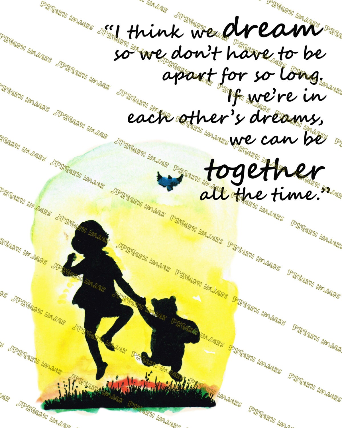 Pooh Quotes About Friendship Winniethepooh Quotes I Think We Dreampooh Bear Print