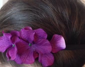 Purple Hydrangea Elastic Headband
