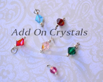 Add On Birthstone Crystals For Personalized Charm Jewelry