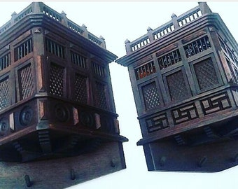 Balconies carved wood century XVII from Lima Peru