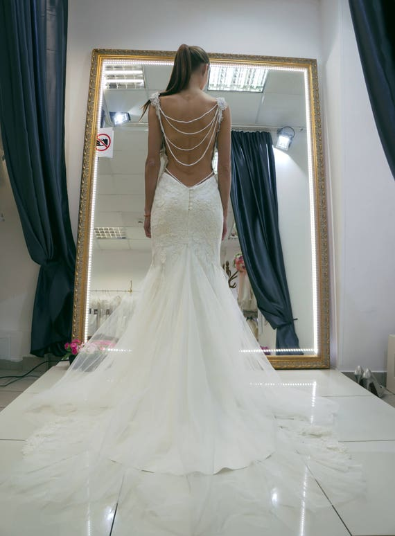Wedding dress Galia open back wedding dress lace wedding
