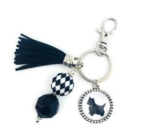 West Highland Terrier Key Chain, Westie Key Ring, West Highland Terrier Gifts, Westie Lovers, Dog Lover Gifts, Dog Key Chain, Westie Rescue