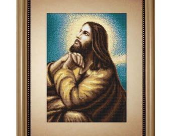 Gobelin kit Jesus's Prayer Petit point