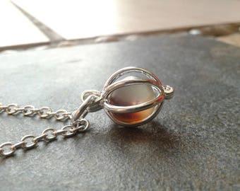 Brown Sea Glass Locket necklace Boho Beach Pendant Silver Sea Ocean Jewelry Water Sea Amulet