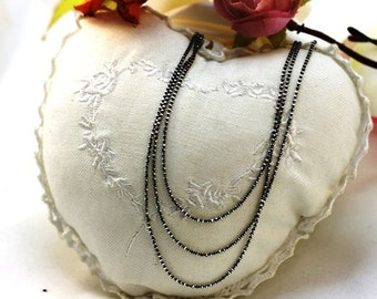 Layered chain necklace. Boho necklace. Delicate necklace. Simple necklace. Thin layered necklace.