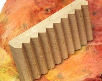 Wooden Felting Fulling Block Rectangular