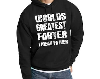 Worlds Greatest Farter I Mean Father Men's Pullover Hoodie