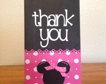 Minnie mouse party favor bag