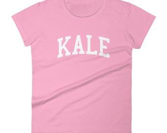 Kale - Women's T-Shirt - Yale, Ivy League, University, College, Harvard, Princeton, Columbia, Funny, Gift Idea, Vegetarian, Vegan