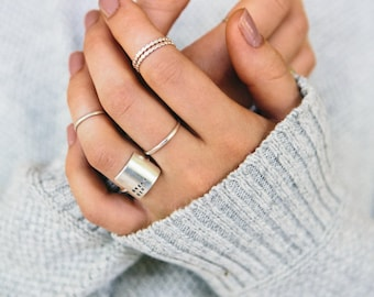 Inspirational Ring Hand Stamped | Unique Handmade Minimalist Ring | PERSONALIZED | Sterling Silver | Gold | Rose Gold