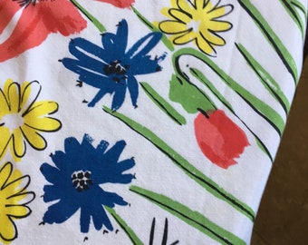 Vintage Vera Neumann Floral Tablecloth (52 by 68 Inches) Staining