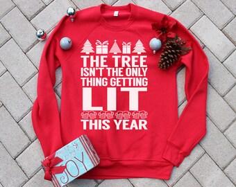 LIT Design.Men's funny drinking christmas sweater. christmas sweater, christmas present, christmas sweatshirt