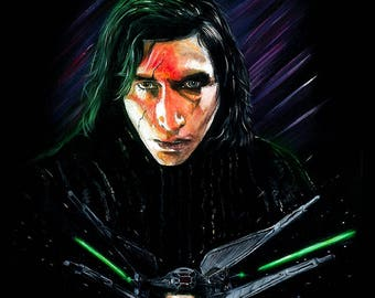 Star Wars - The Last Jedi Kylo Ren Limited Edition Art Print
