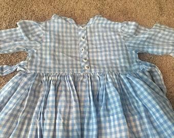 Vintage handmade girls dress