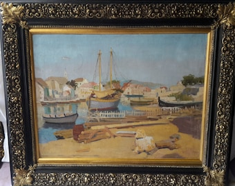 antique oil painting I.Majkovski