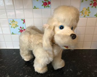Vintage Battery Operated Fur Poodle