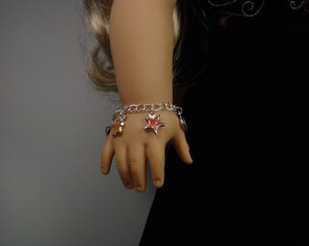 """Charm Bracelet for 18"""" Play Dolls such as American Girl®"""
