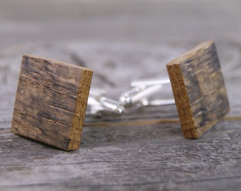 Rustic Wedding / Wedding Cufflinks / Rustic Cufflinks / Recycled Wood / Upcycled / Wooden Cufflinks / Cufflinks / Best Man Gift / Whiskey