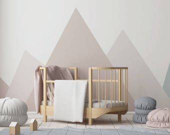 Mountain Wall Decal Wall Decals  Wall Decals Modern Nursery Decor Wall  Stickers Reusable Decals Mountain Mural Nursery Room Decor Baby E170