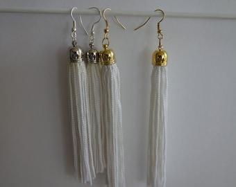 Long Silky Tassel Earrings