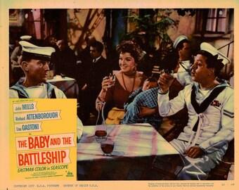 The Baby And The Battleship - 1957 - Original US lobby card  # 8
