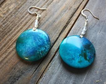 Ocean Orb Earrings