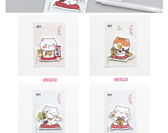 Fortune Cat Post IT Notes Sticky Memo