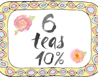6 Teas - Choose your own - 10% Discount