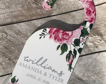 Personalized Wedding Honeymoon Door Hanger, Do not disturb, Honeymoon Door sign, Wedding door sign, Hotel door hanger