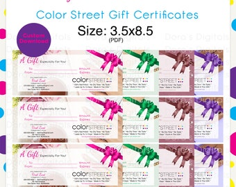 Color Street Gift Certificate --Custom Digital Download