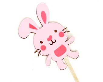 Bunny Cupcake Toppers, Appetizer Picks. Tags, custom colors