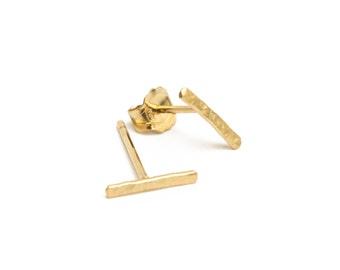 "ELEMENTS II - Gold plated hammered earrings ""Tiret"" (EHBO01)"