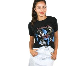 1984 Van Halen Tour T Shirt 80s Rock Band Tee