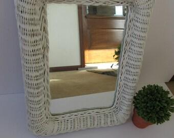 Rectangular Wicker Mirror | Oval