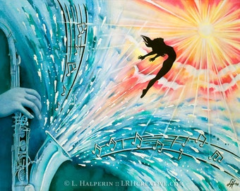 Rise Above It - Watercolor Music Premium Quality Giclee Print