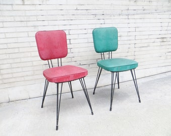Pair of french mid-century modernist chairs