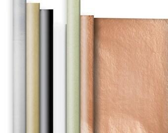Jillson & Roberts Solid Color Matte Gift Wrap Roll Assortment, Elegant (6 Rolls)