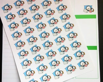Cute Lazy Day Penguin Stickers!  Perfect for Erin Condren Life Planner, MAMBI/Happy Planner, Plum Planner, Etc.
